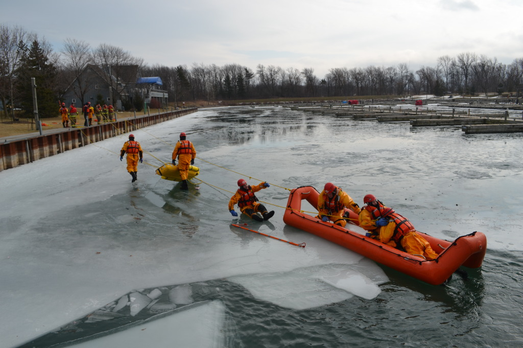 Training in ice water
