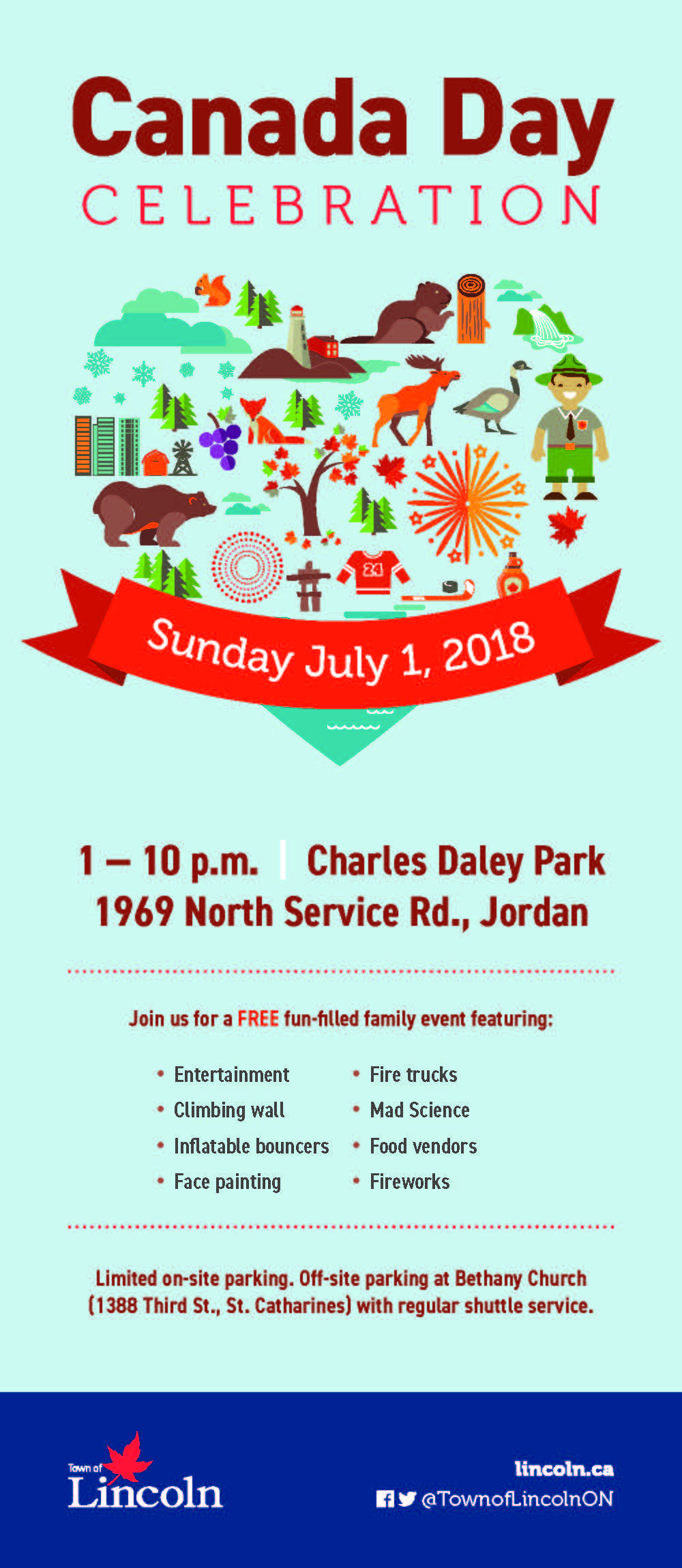 Canada Day Celebration Town of Lincoln | Charles Daley Park | Jordan