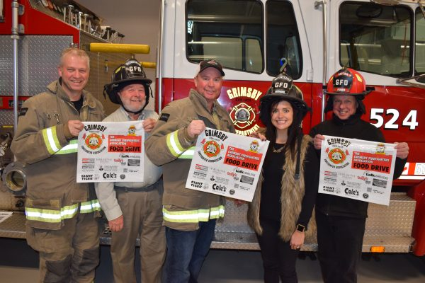 Grimsby, firefighters, food drive, GBF, Christmas Hamper
