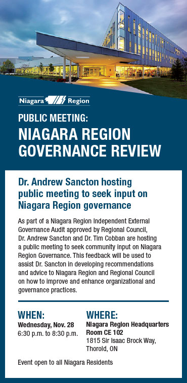 Public Meeting Governance Review