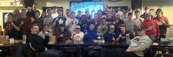 GSS Eagles footbll team celebrating at Teddy's.
