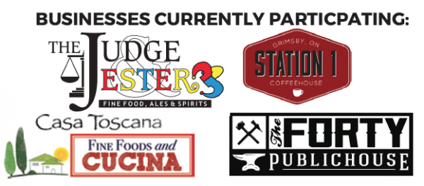 Businesses currently participating include The Judge and Jester, Station 1 Coffeehouse, Casa Toscana and The Forty Public House.