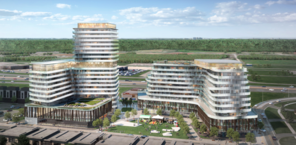 An artist's rendition of the proposed Casablanca Hotel rebuild.